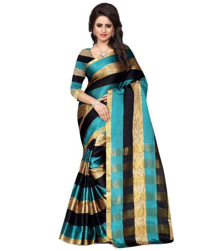 Shoppers Trend Multicoloured Art Silk Saree