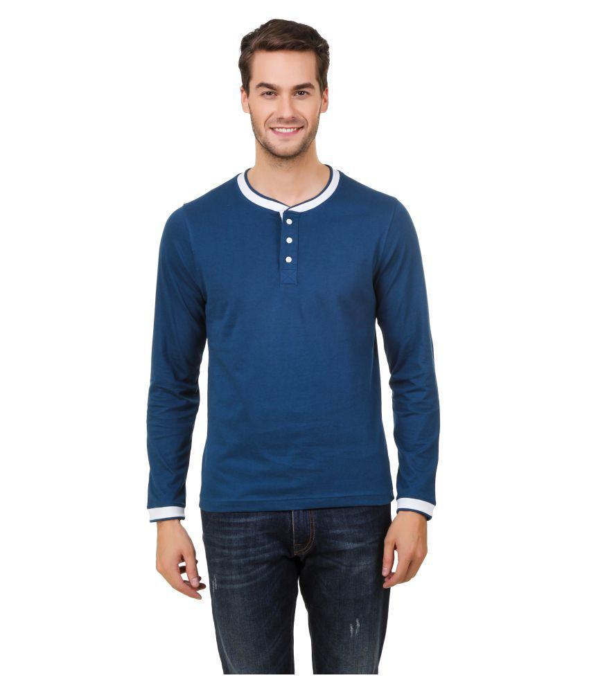 Hue Zephyr Blue Henley T-Shirt