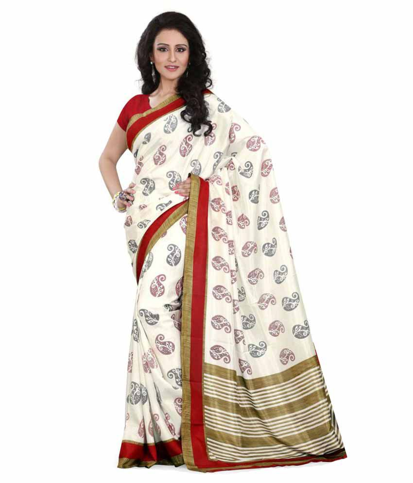 SGM Multicoloured Art Silk Saree