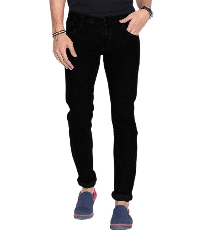 Wellbeing Black Relaxed Solid Jeans