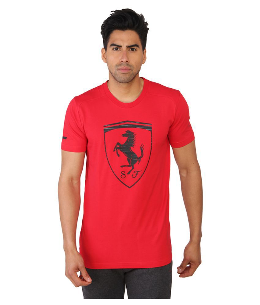 Puma Red Polyster Men T-Shirt