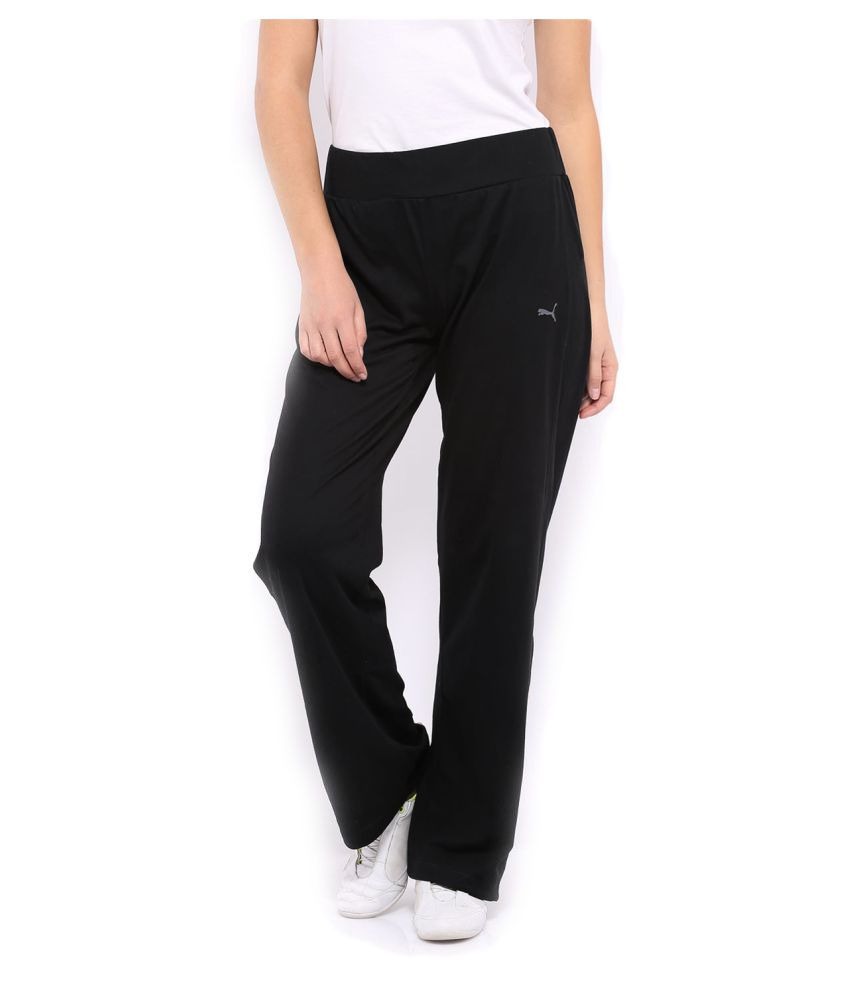 Puma Black Polyester Women Trackpant