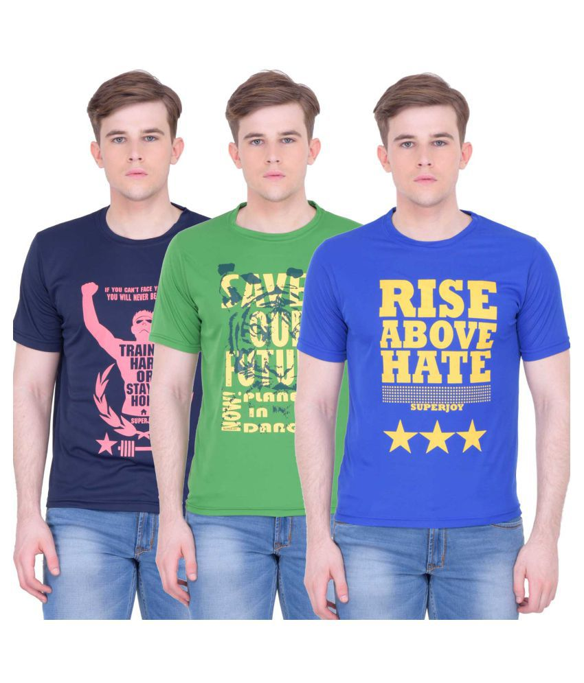Superjoy Multi Round T-Shirt Pack of 3