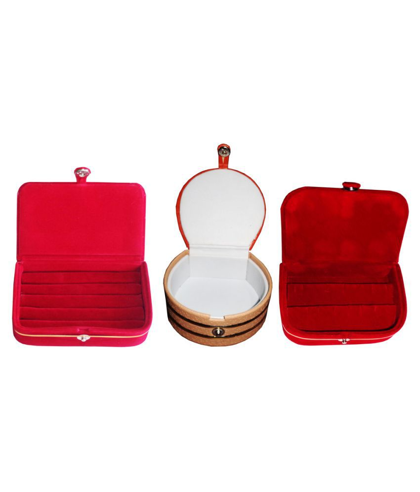 Abhinidi Multicolour Wooden Jewellery Boxes - Pack of 3