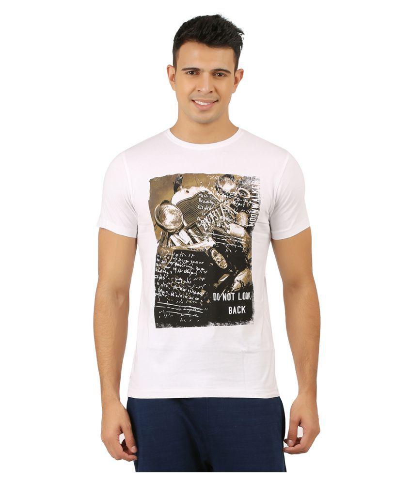 Moonwalker White Round T-Shirt