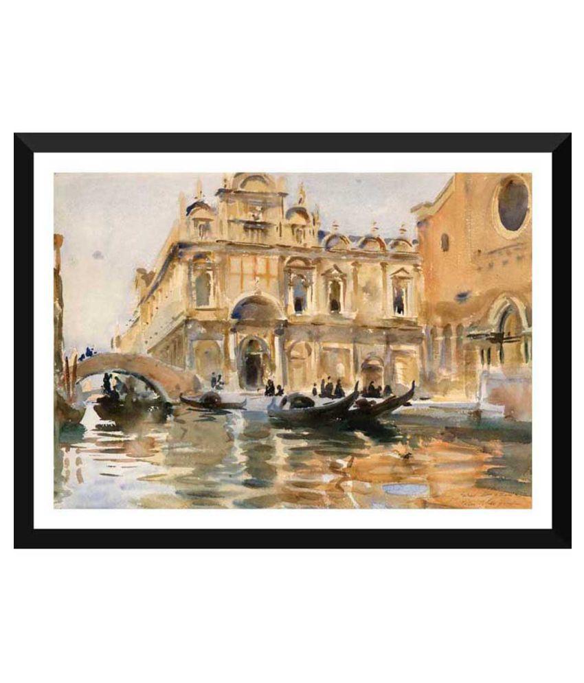Tallenge Rio Dei Mendicanti Venice by John Singer Sargent Paper Art Prints With Frame Single Piece
