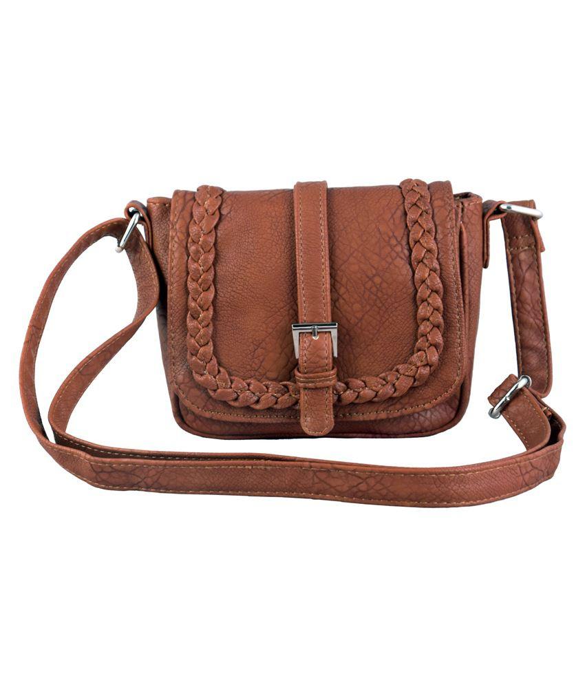 Lychee Bags Brown Sling Bag - Buy Lychee Bags Brown Sling Bag ...