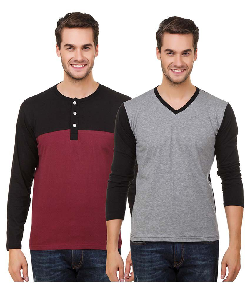 Hue Zephyr Multi V-Neck T-Shirt Pack of 2