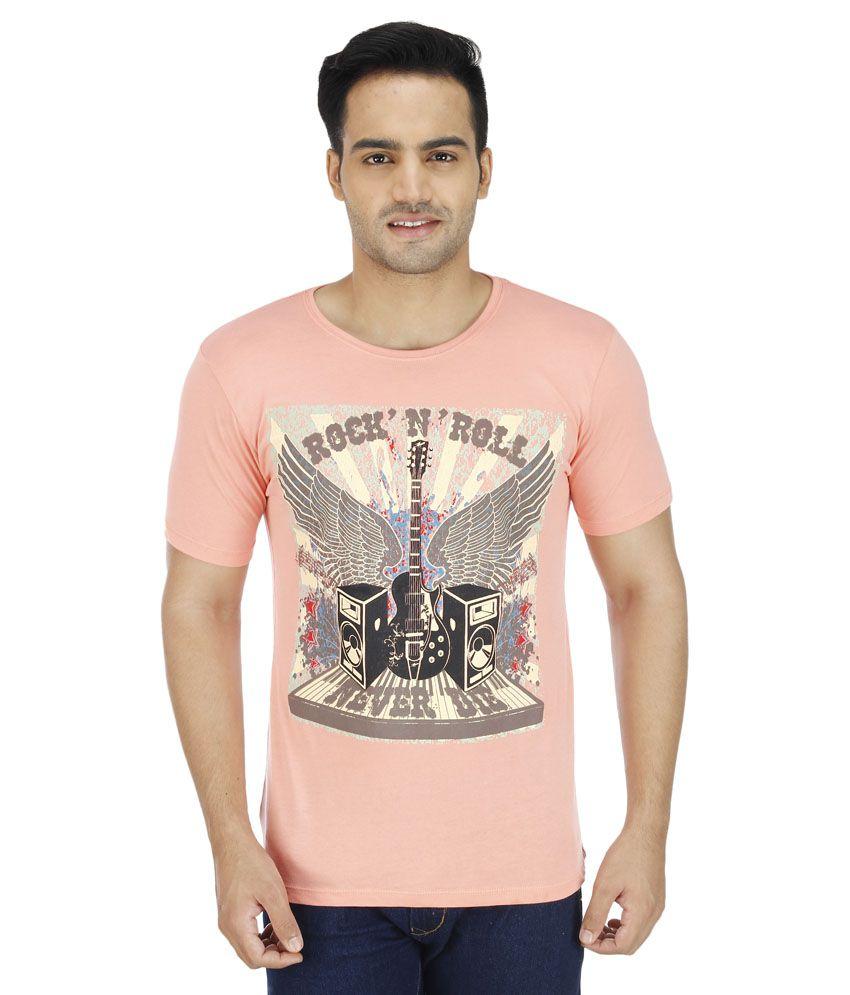 Wineberry Peach Round T-Shirt