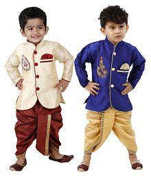 Dixita Multicolour Cotton Blend Dhoti Kurta Pack of 2