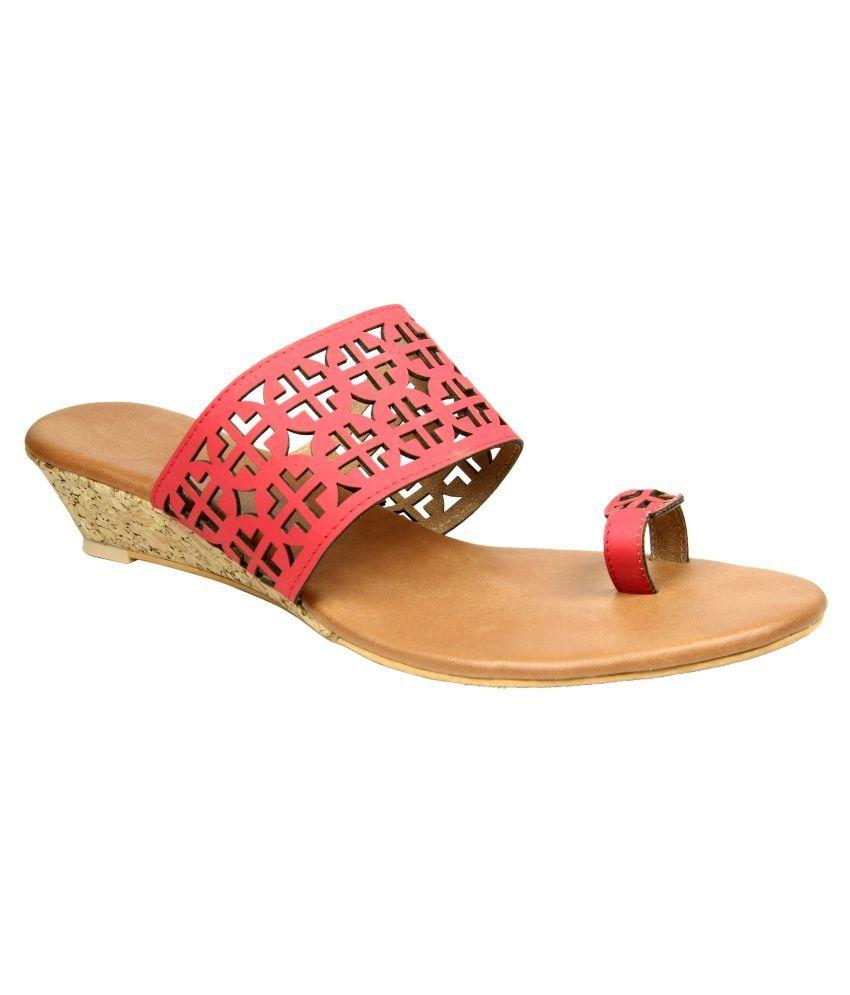 Keco Red Wedges Heels