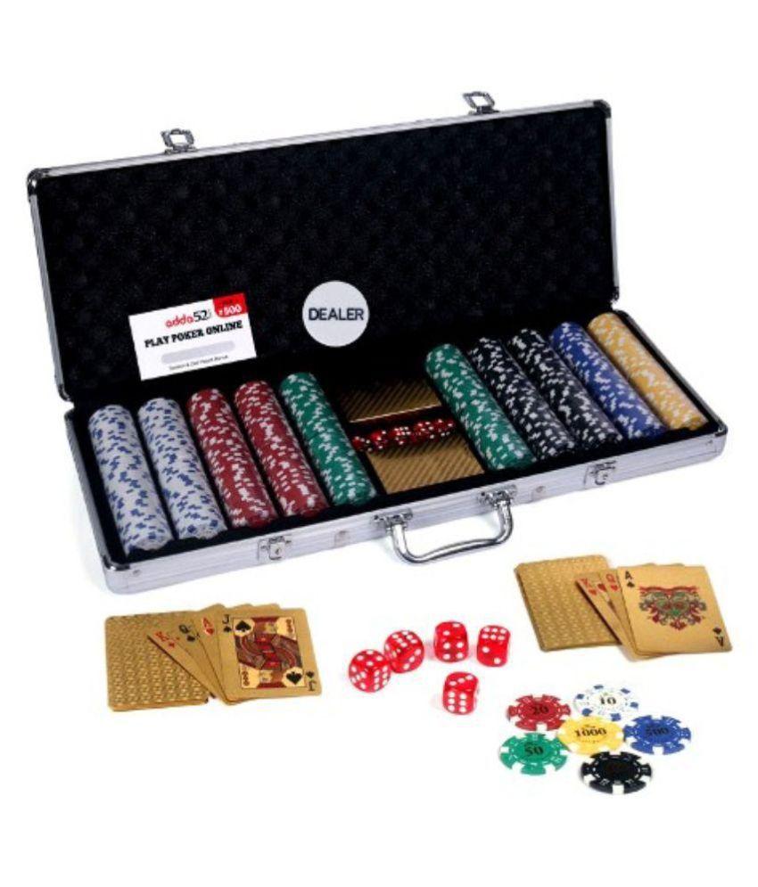 Casinoite Gold Poker Chip Set 500 Toy