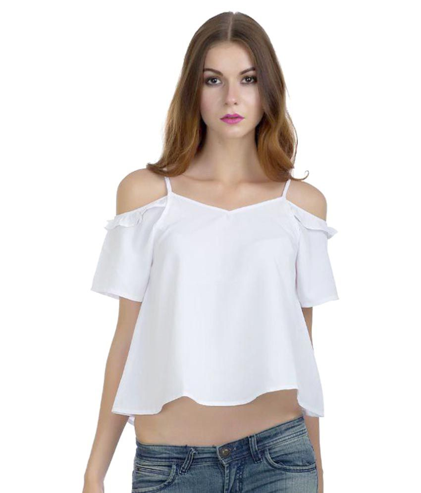 06692c9806f Dracht White Polyester Crop Tops - Buy Dracht White Polyester Crop Tops  Online at Best Prices in India on Snapdeal