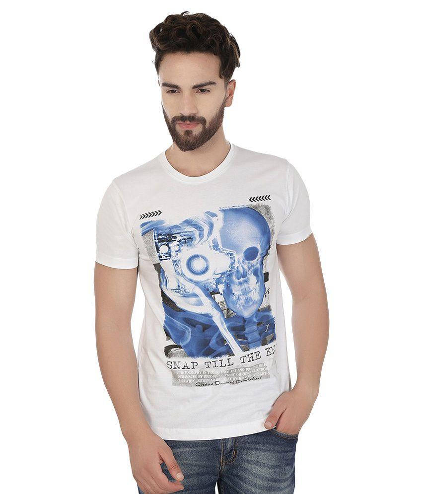 Canberra Smith White Round T-Shirt