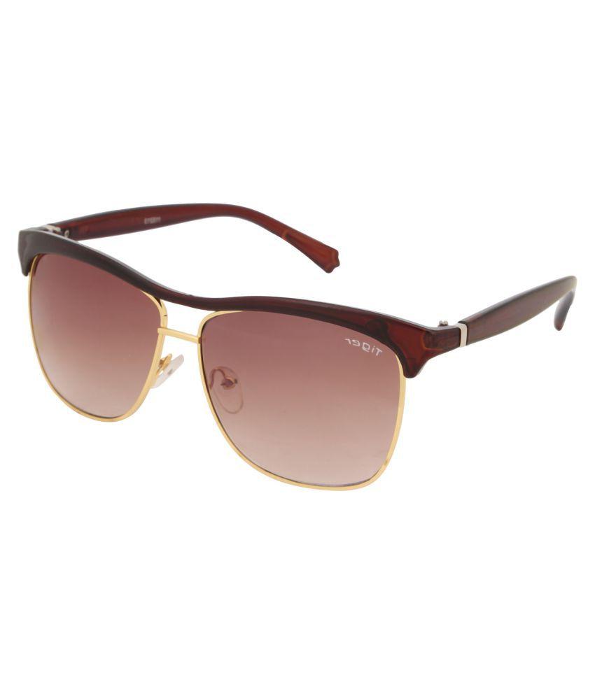 Tiger Eyewear Brown Square Sunglasses ( 115213 )