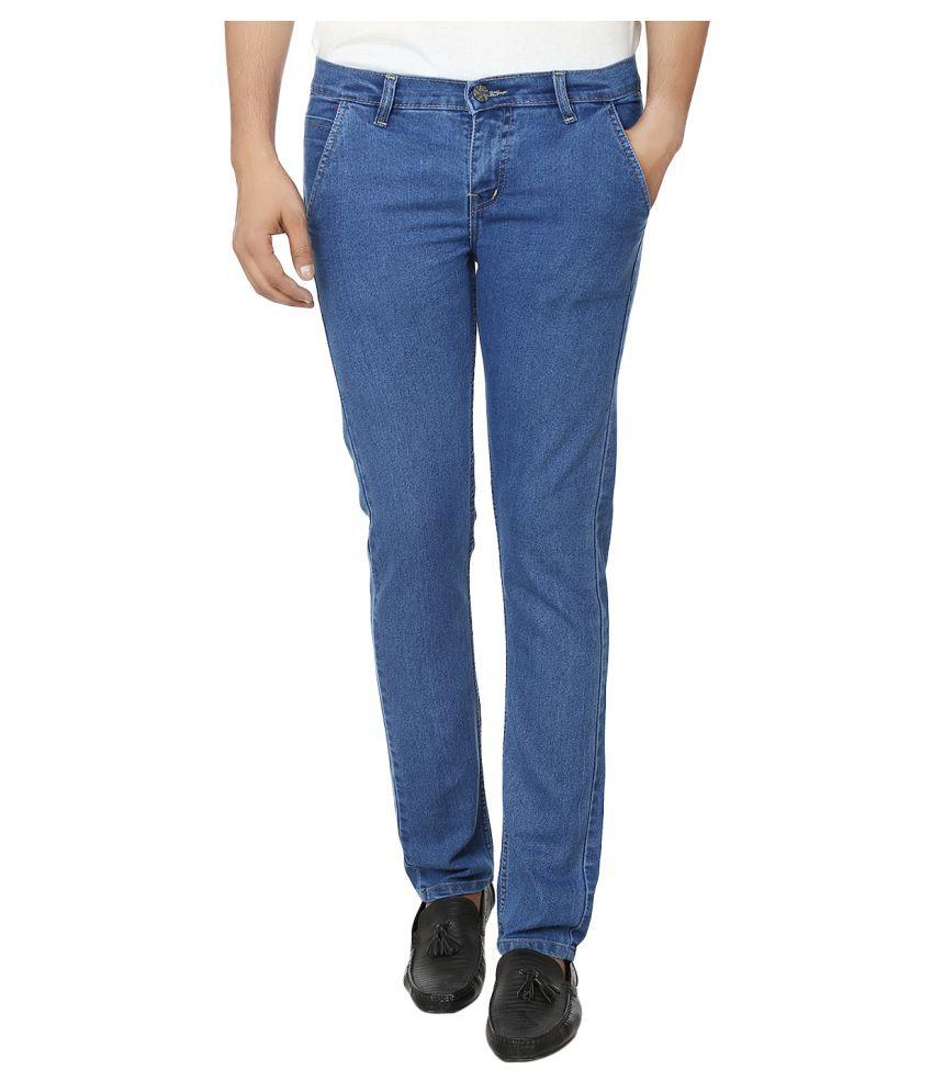 Ben Carter Blue Slim Solid Jeans