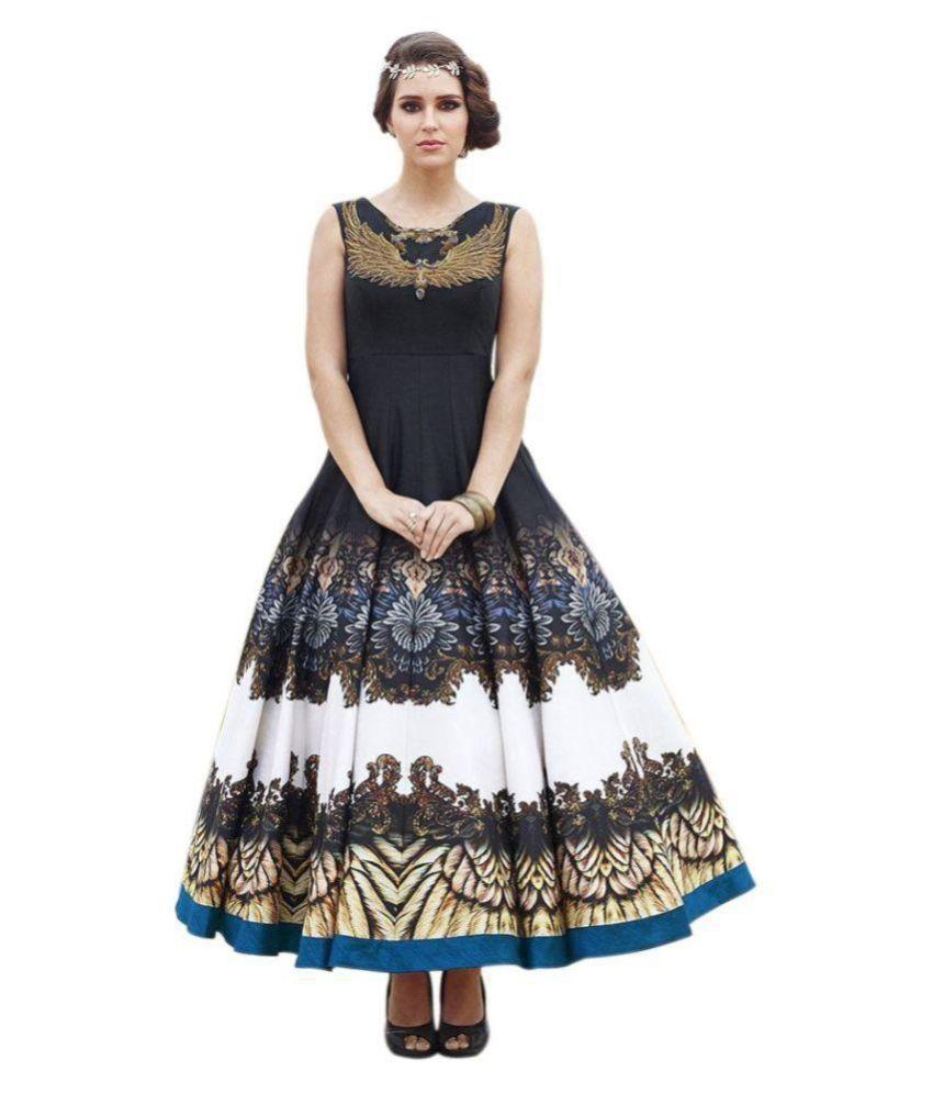 Navya Black Bhagalpuri Silk Anarkali