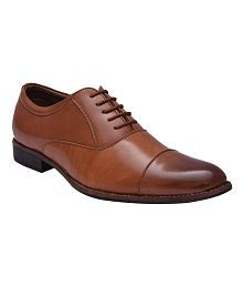Sir Corbett Tan Oxfords Non-Leather Formal Shoes