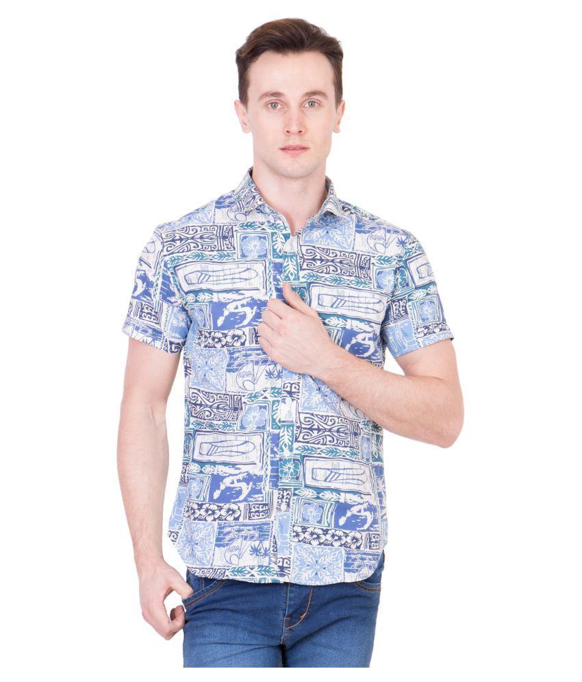 99Hunts Multi Casuals Regular Fit Shirt