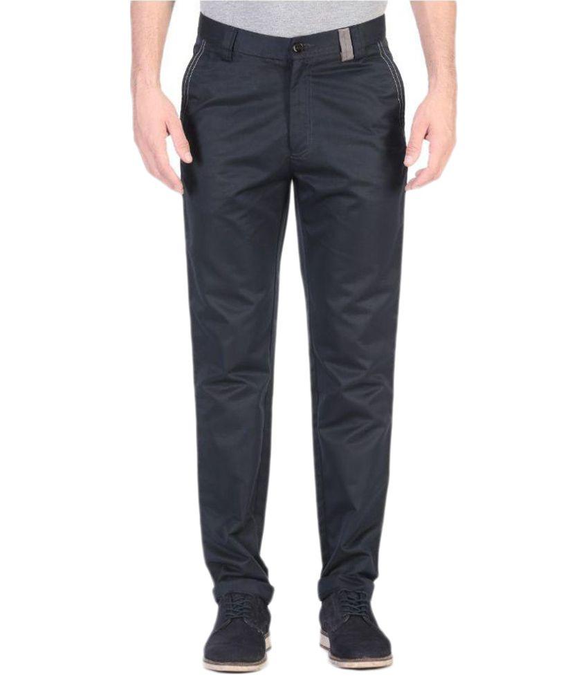 Vandnam Fabrics Black Slim Flat Trouser