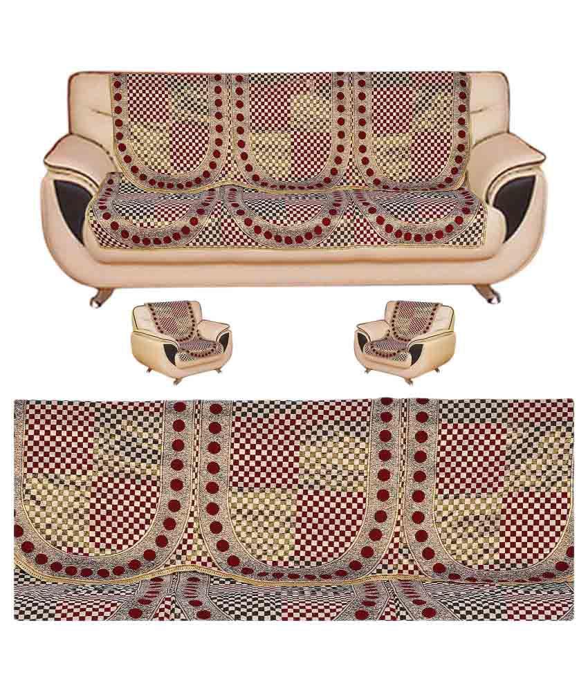 Fab Nation Jaquard 5 Seater Sofa Cover Set Amp 5 Diamond