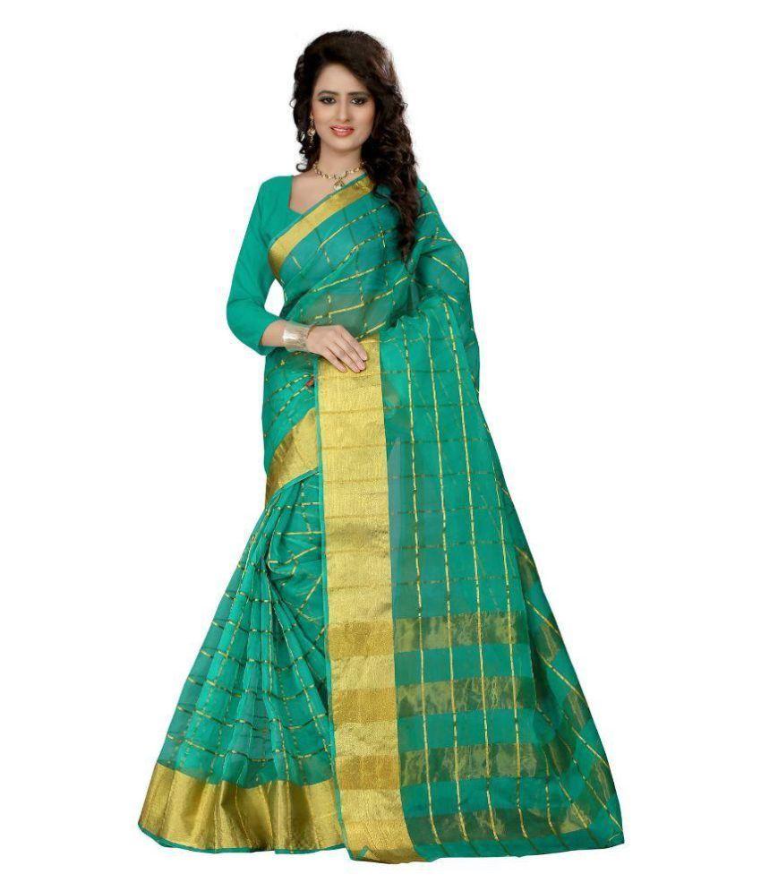 Fabcart Green Art Silk Saree
