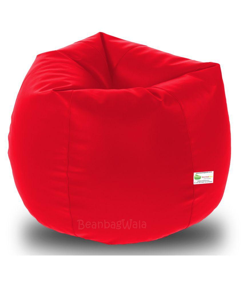 Beanbagwala Xxxl Filled Bean Bag Red Buy Beanbagwala