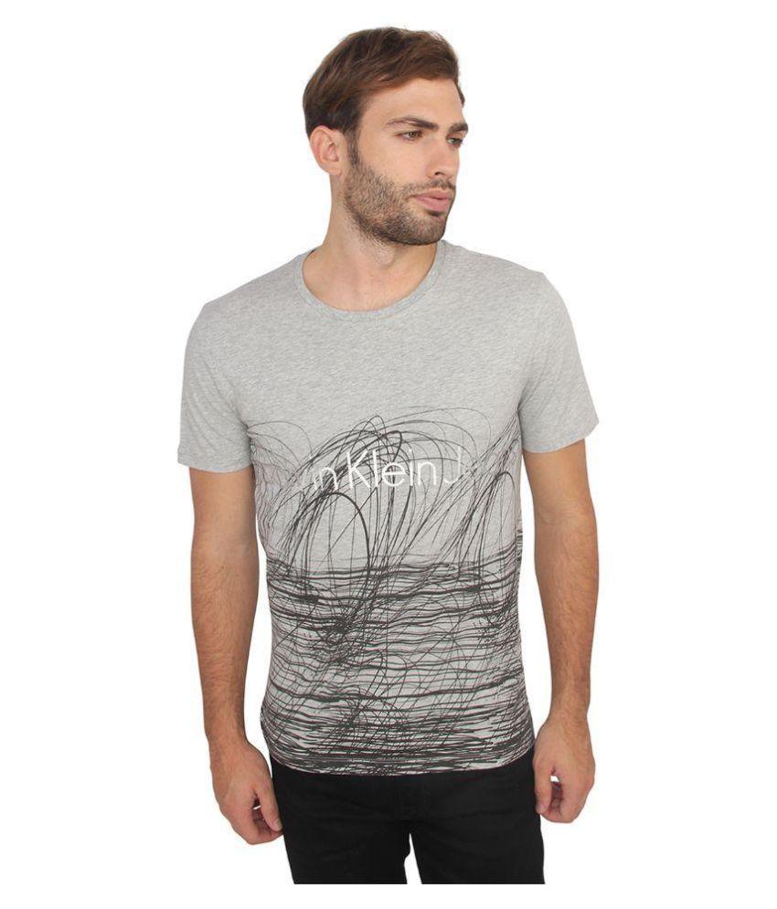 Calvin Klein Grey Round T-Shirt