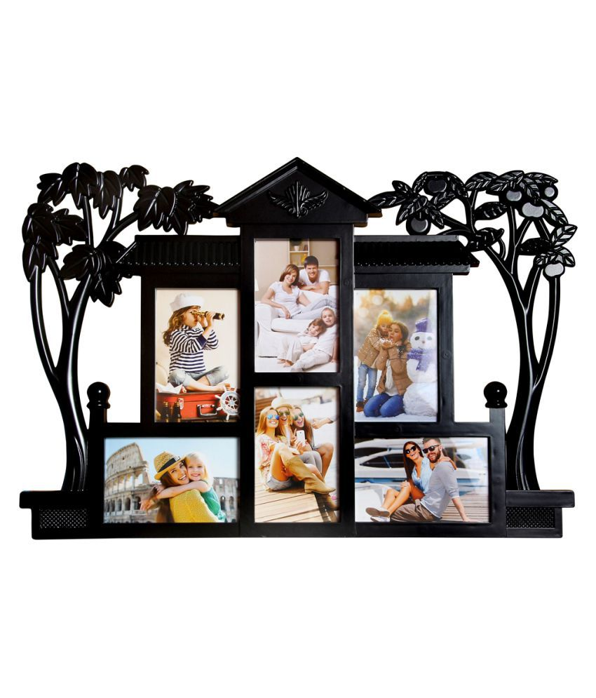 Archies Collage Frames Plastic Wall Hanging Black Collage