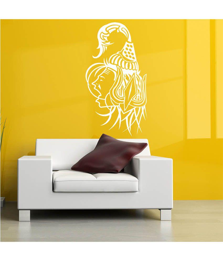 Decor Villa Angry Shiva PVC Wall Stickers - Buy Decor Villa Angry ...