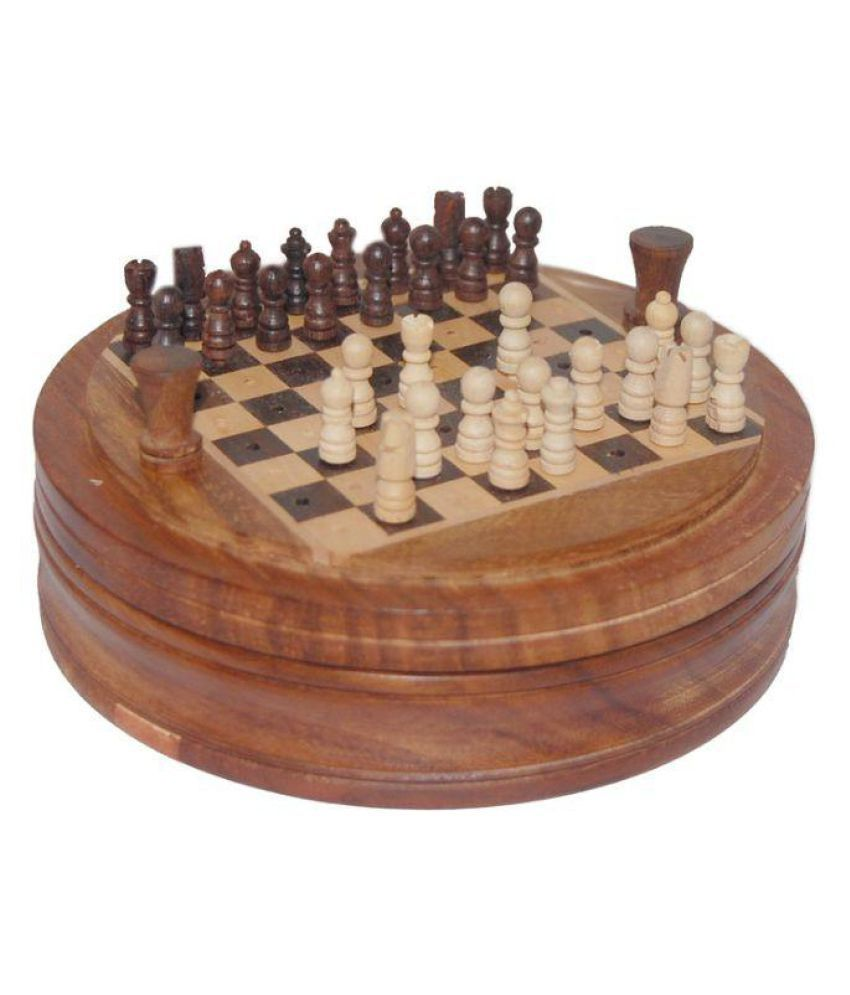 Vinr Brown Rose Wood Handcrafted Wooden Chess Board