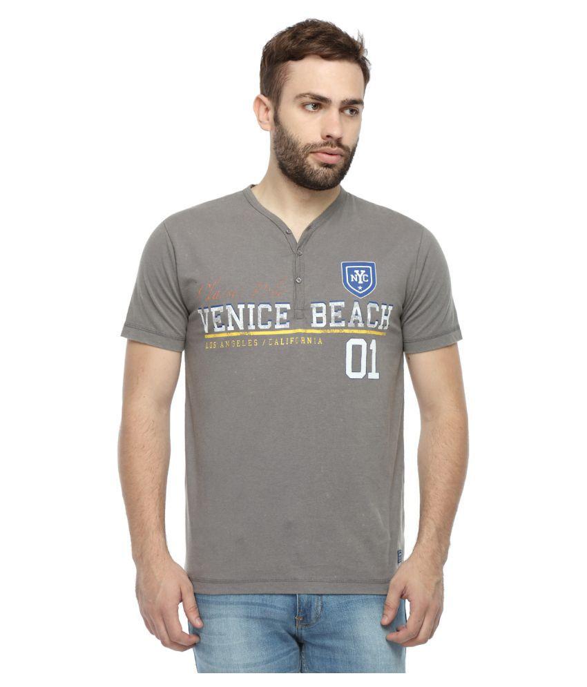 Classic Polo Grey Henley T-Shirt
