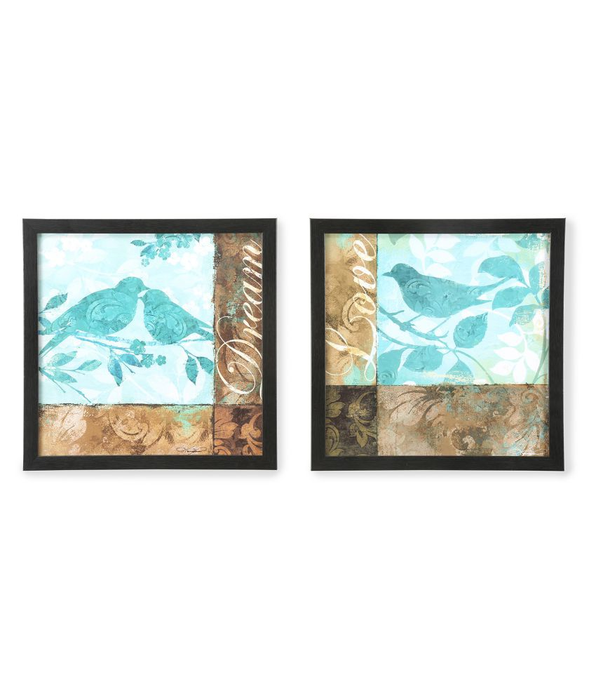 @Home by Nilkamal Wood Art Prints With Frame 2 combination