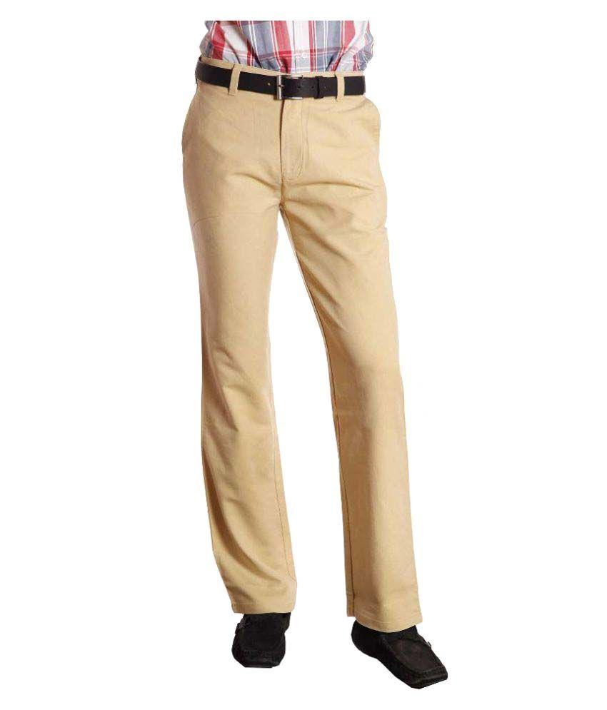 Koutons Outlaw Beige Regular Flat Trouser