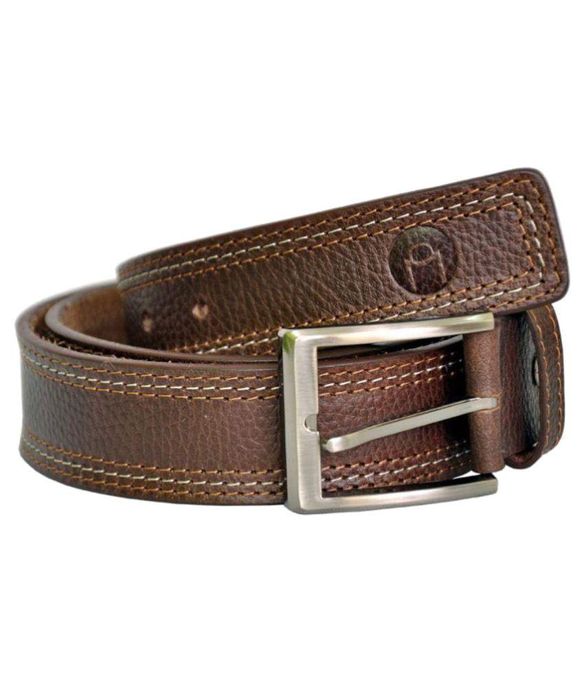 MOSPL Brown Leather Formal Belts