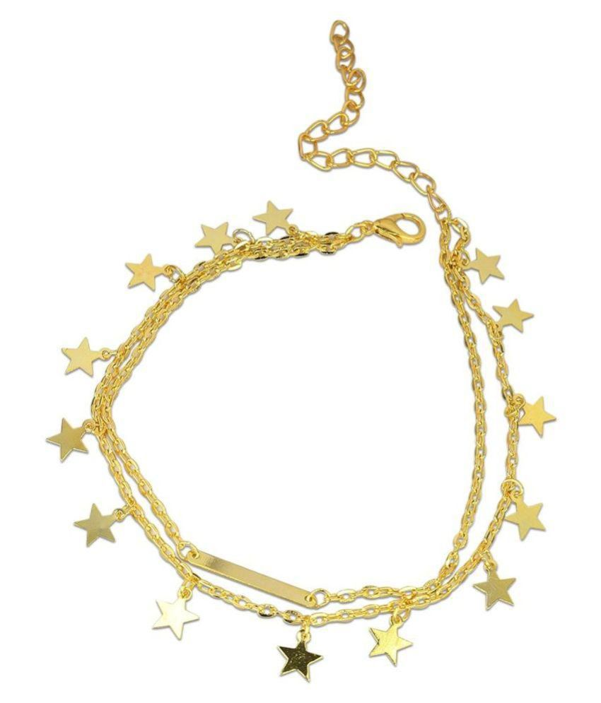 Diva Golden Anklets