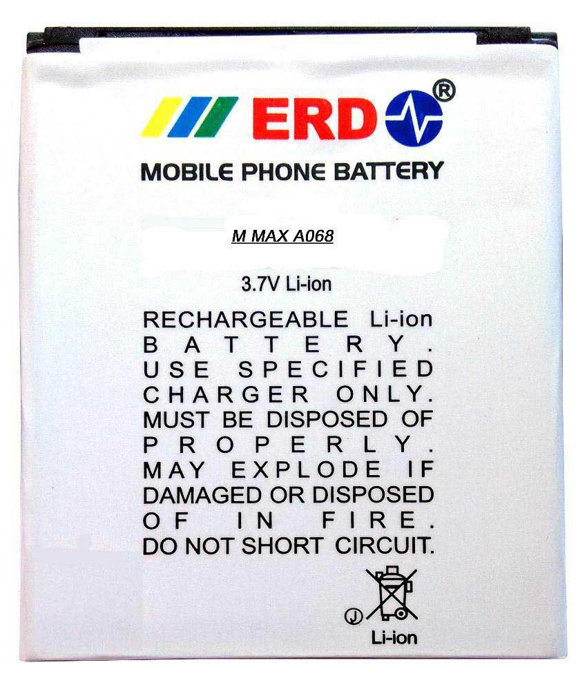 ERD 1500mAh Battery (For Micromax Bolt A068)