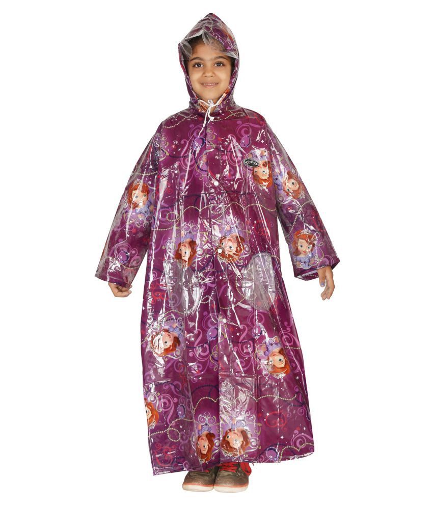 Zeel Purple Polyester Coats