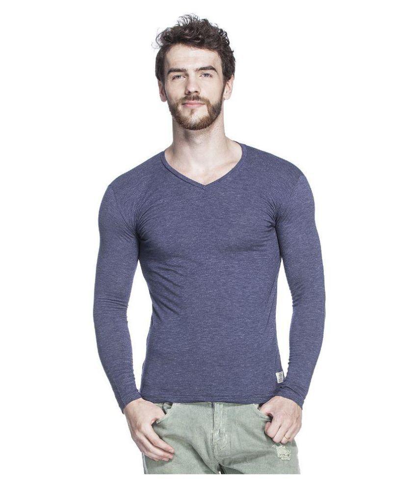 Tinted Navy V-Neck T-Shirt