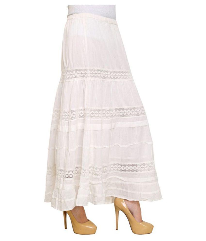 c11860f958b iWonder White Cotton Broomstick Skirt iWonder White Cotton Broomstick Skirt  ...