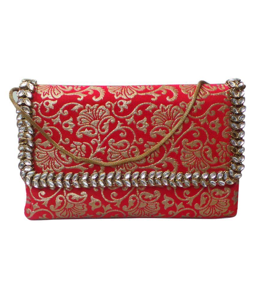 Bhamini Multi Fabric Box Clutch