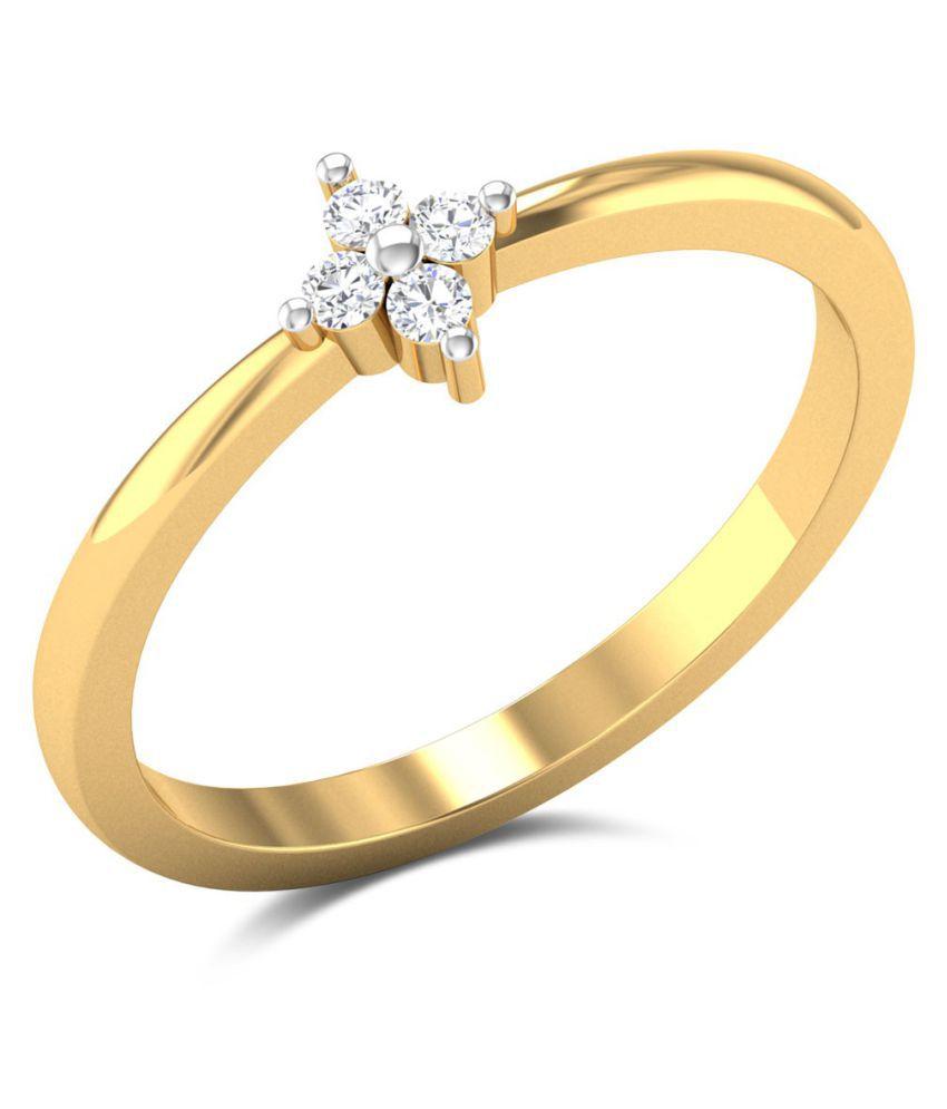 Zaamor Diamonds 18k Gold Diamond Ring