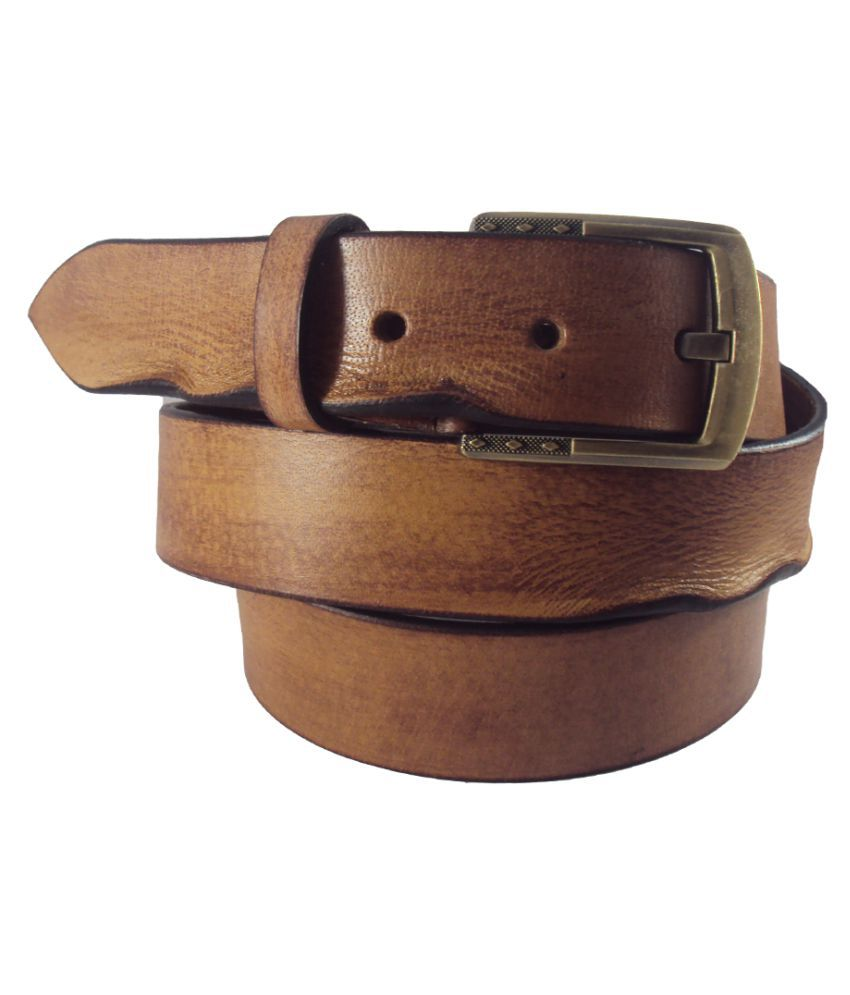 National Leathers Tan Brown Leather Casual Belt