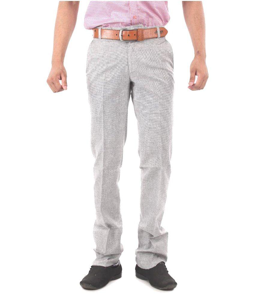 Zohn Deere Grey Slim Flat Trouser