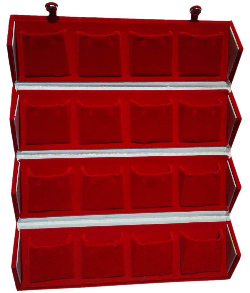 Atorakushon Maroon Velvet Earrings Box