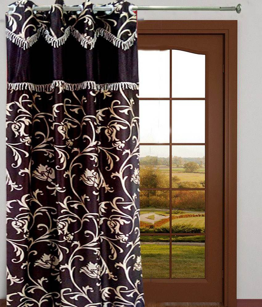 Homefab India Single Window Eyelet Curtain Embroidered