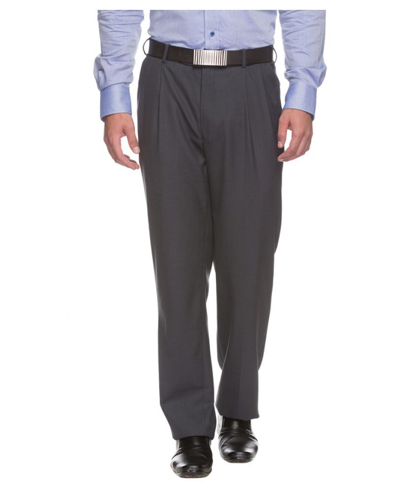 Raymond Grey Regular Flat Trouser