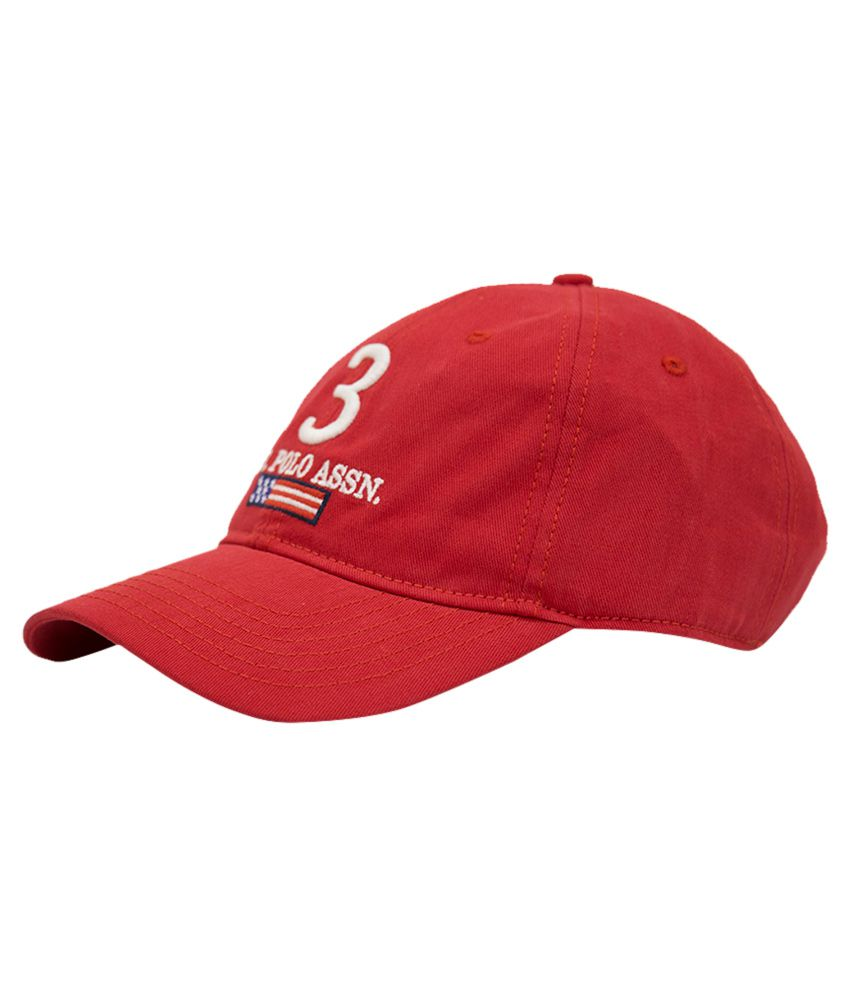 87b54a910fa6 U S Polo Red Baseball Cap For Men - Buy Online   Rs.