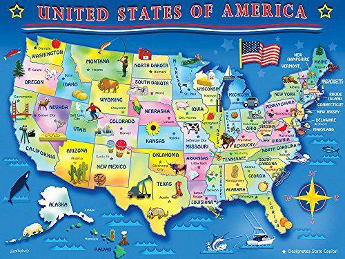 Springbok USA Map Jigsaw Puzzle (60-Piece) - Buy Springbok ...