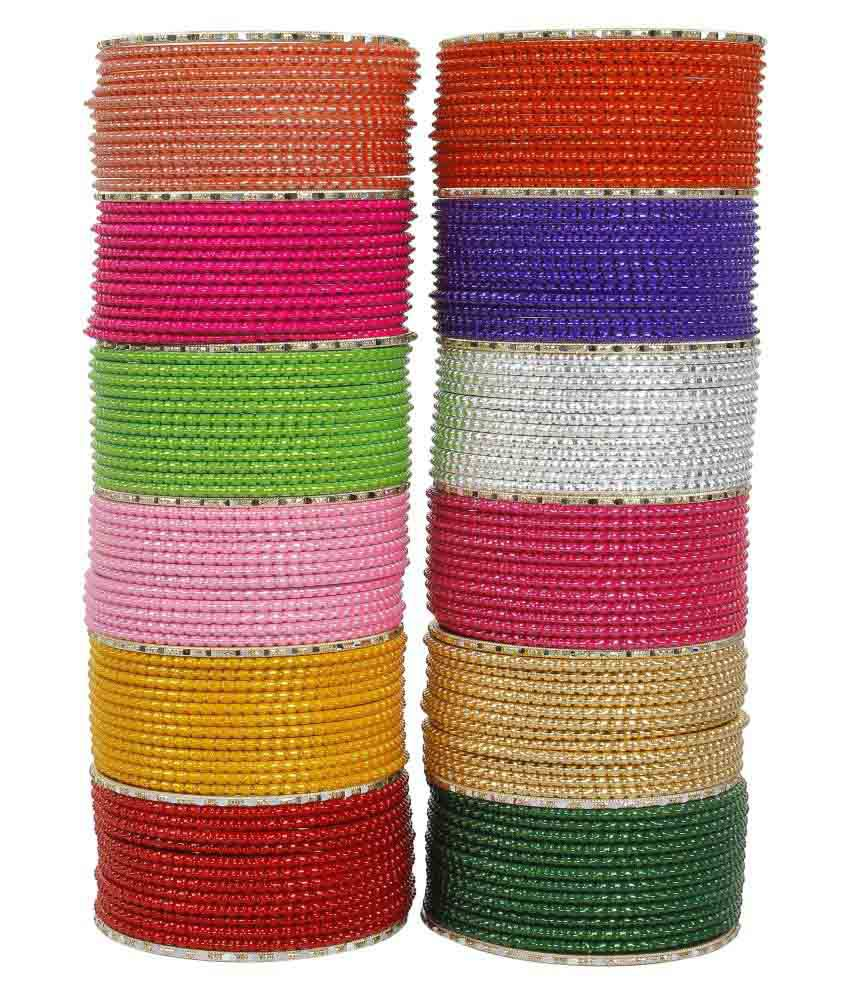 Muchmore Multicolour Alloy Bangle Set